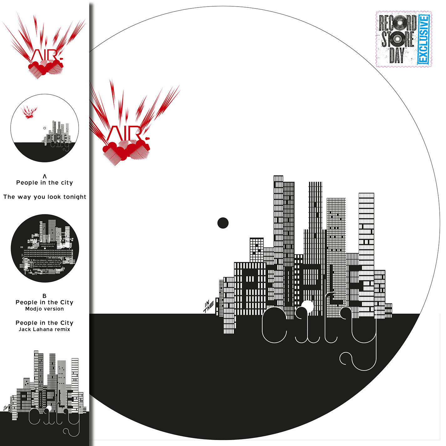 """Electronic Air - People In The City (12"""" Picture Disc)"""