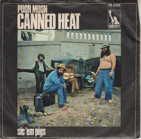 Rock/Pop Canned Heat - Poor Moon b/w Sic 'Em Pigs (1969 Germany) (VG, creases on sleeves)