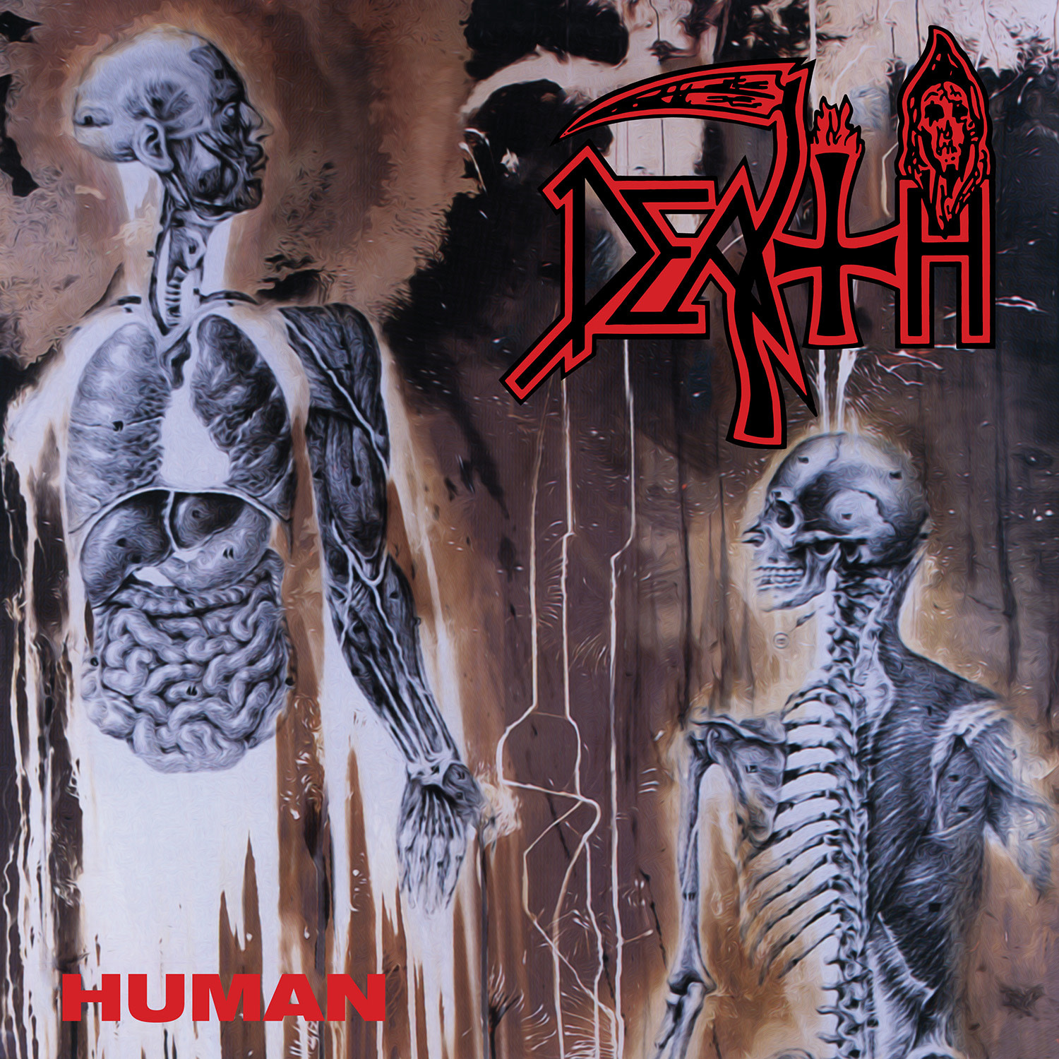 Metal Death - Human (Custom Butterfly With Splatter Edition)