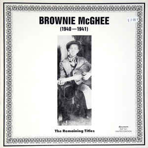 Blues Brownie McGhee - (1940-1941): The Remaining Titles (VG, stains on bottom back cover)