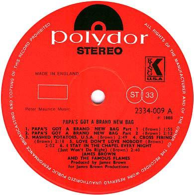 R&B/Soul/Funk James Brown - Papa's Got A Brand New Bag (UK Reissue) (VG)