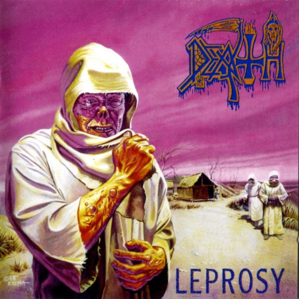 Metal Death - Leprosy (Custom Butterfly with Splatter Edition)