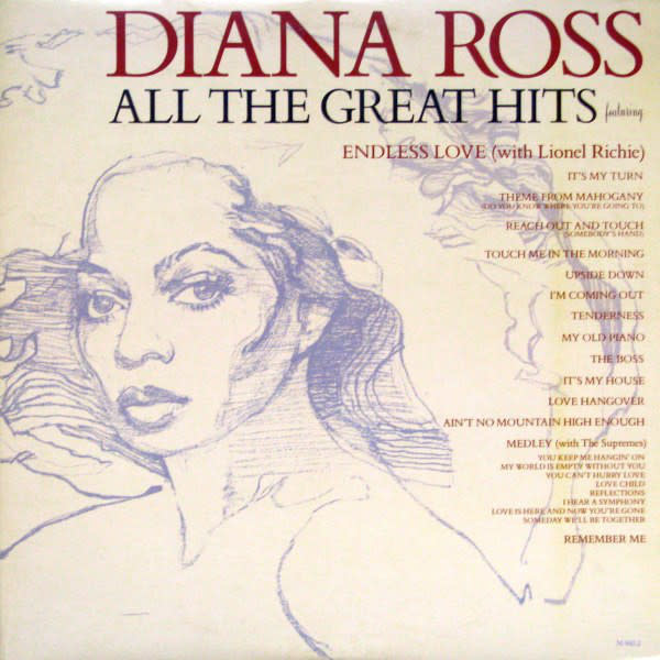 R&B/Soul/Funk Diana Ross - All The Great Hits (VG, brief/soft tick on C1, otherwise VG+; ring-wear, crease)