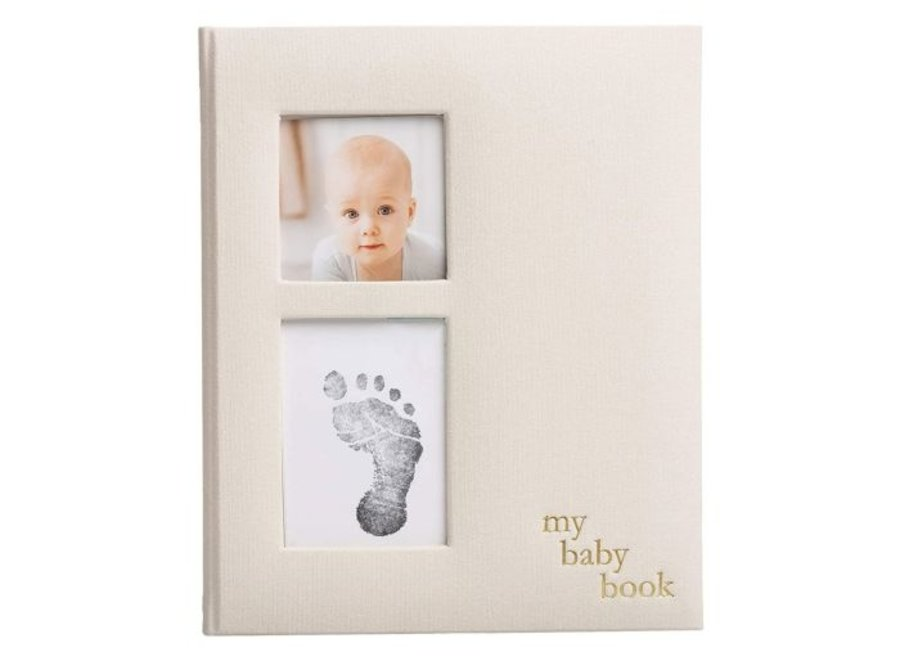 Linen baby book
