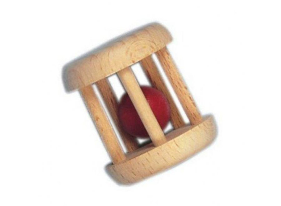 Wooden Rattle with ball
