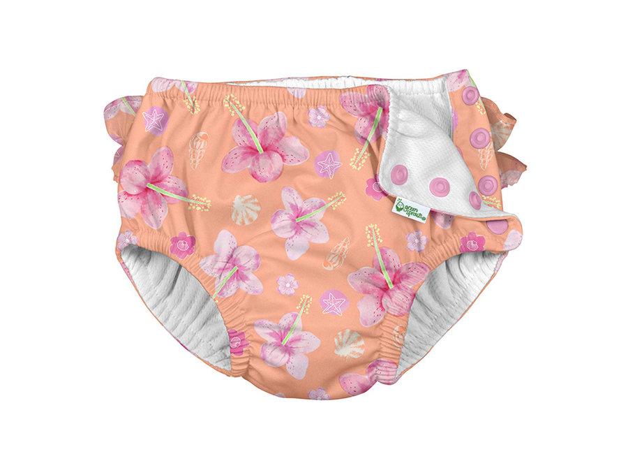 Snap reusable swimsuit diaper