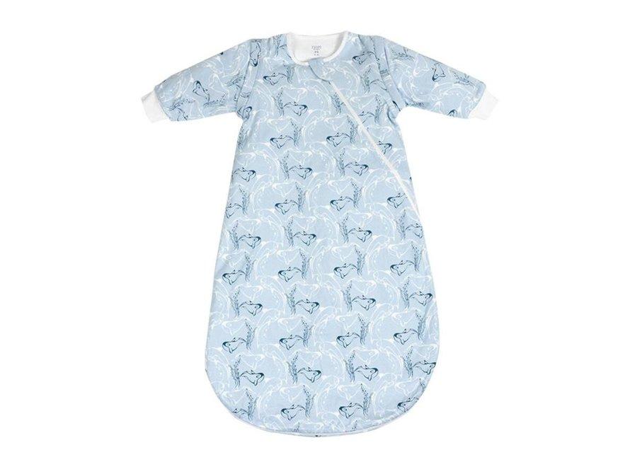 Organic cotton LS sleep bag 1tog blue orca