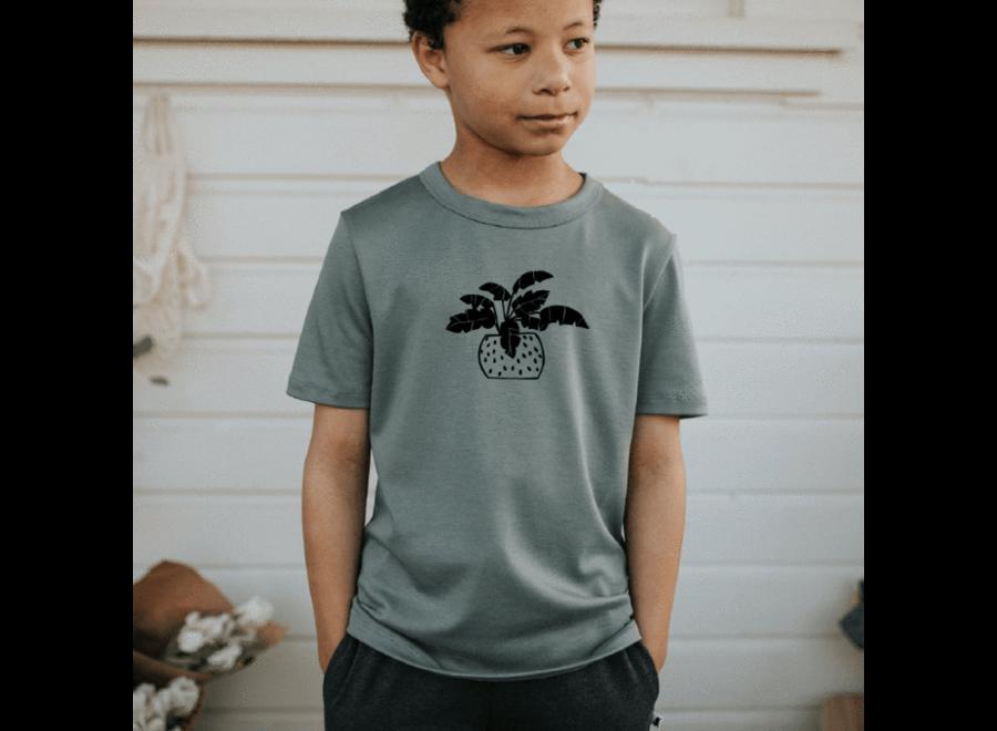 Youth 'fern' t-shirt - Eucalyptus