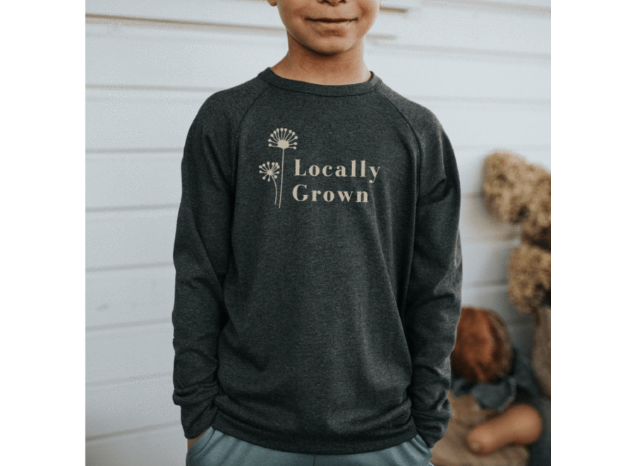 Youth 'locally grown' pullover - Charcoal