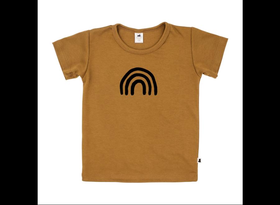 T-shirt 'rainbow' - Dark mustard