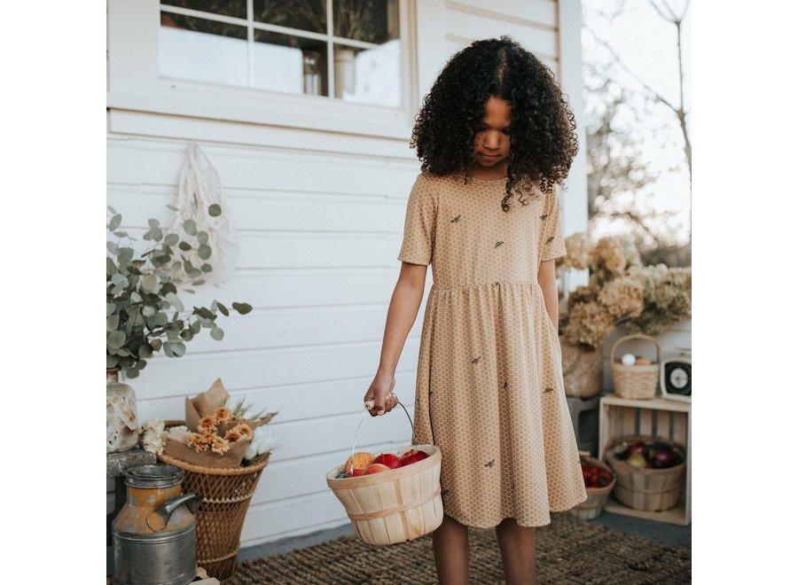 Youth Daphne dress - Honeycomb