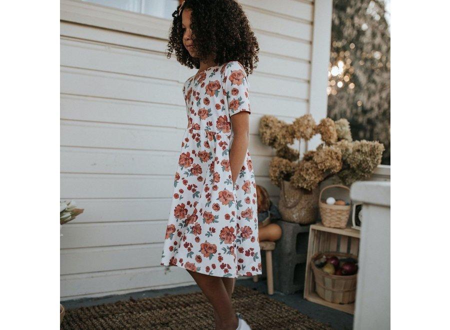 Youth Daphne dress - Peony