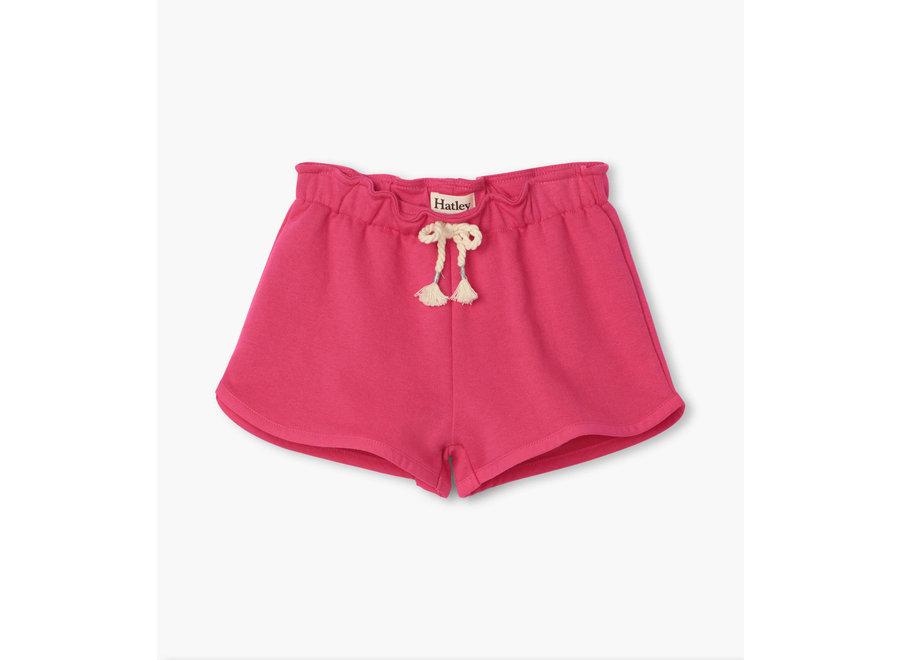 Fuchsia Paper Bag Shorts