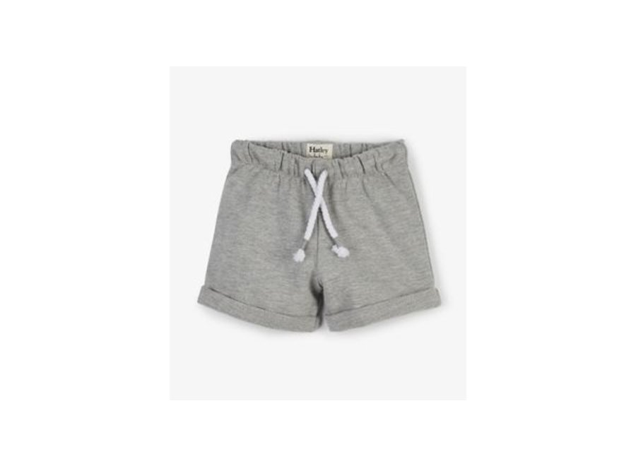 Grey French Terry Baby Shorts
