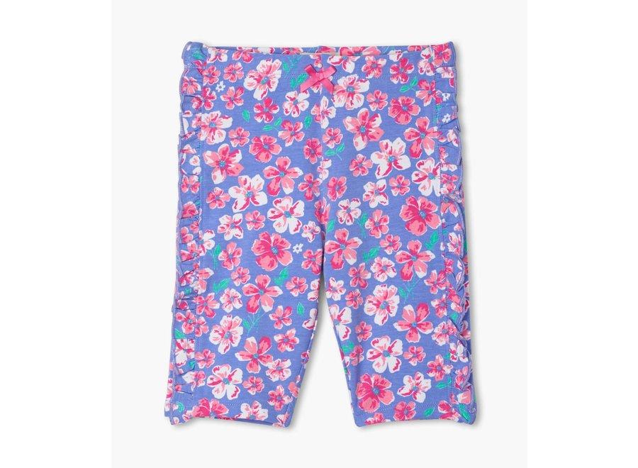 Spring garden ruffle bike shorts