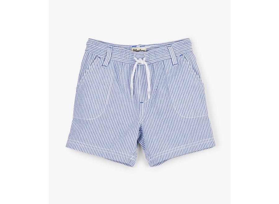 Blue Stripes Woven Shorts