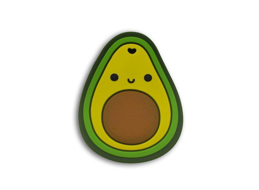 Avocado silicone teether