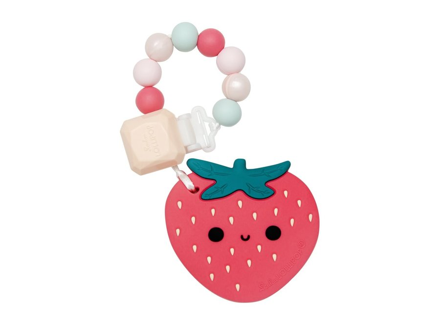 Strawberry silicone teether set
