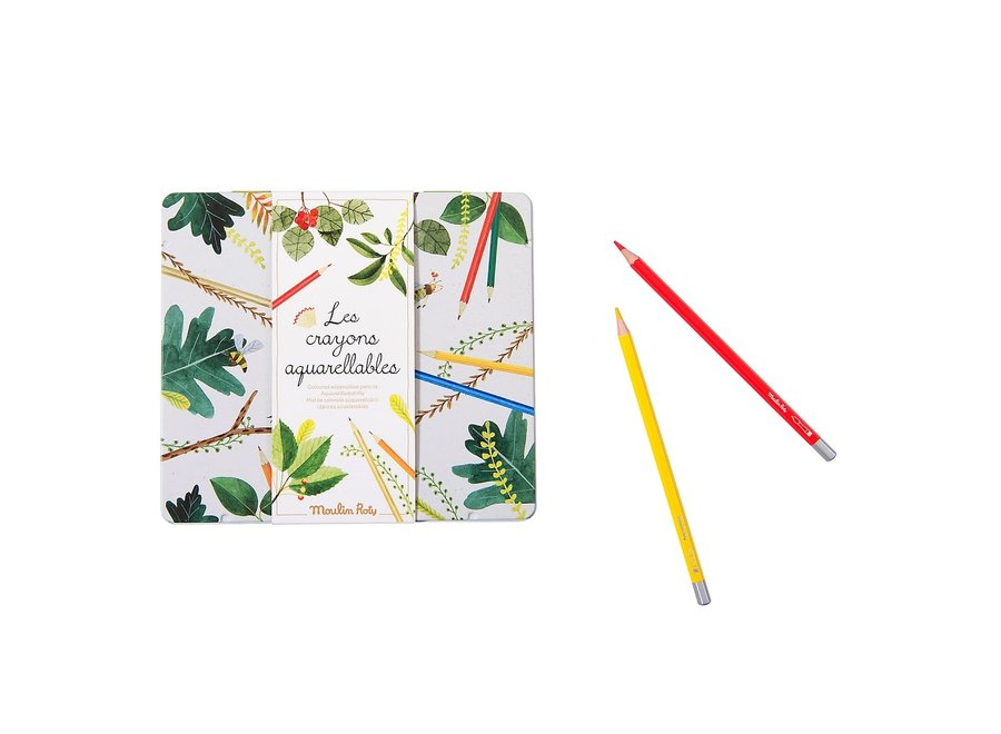 Le Botaniste - 24 watercolour pencils