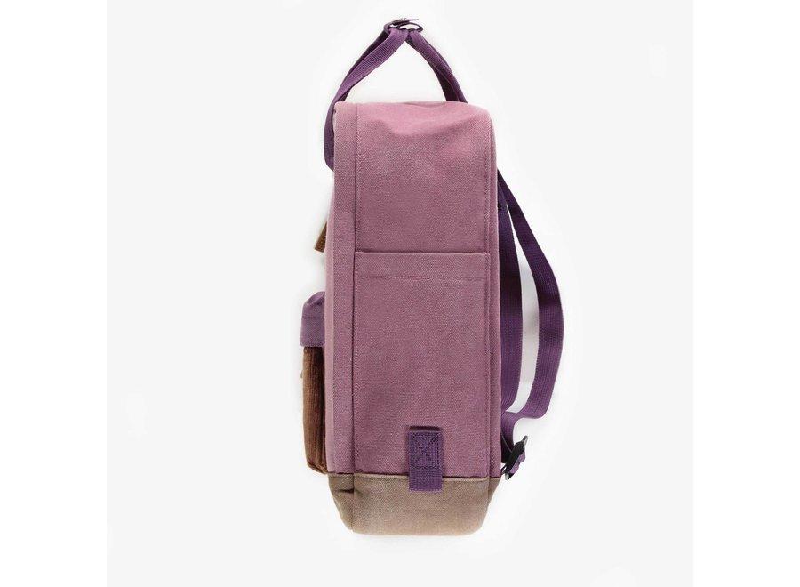 Block colour purple backpack