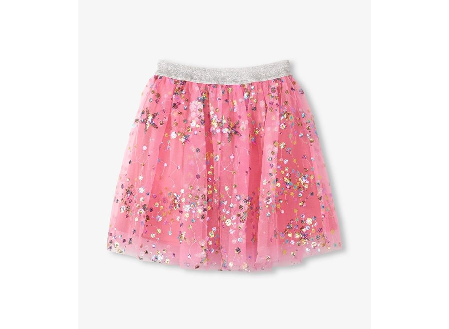 Galaxy sequins tulle skirt
