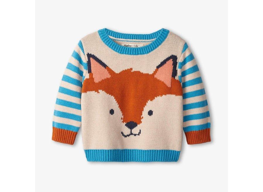 Little fox crew neck baby sweater