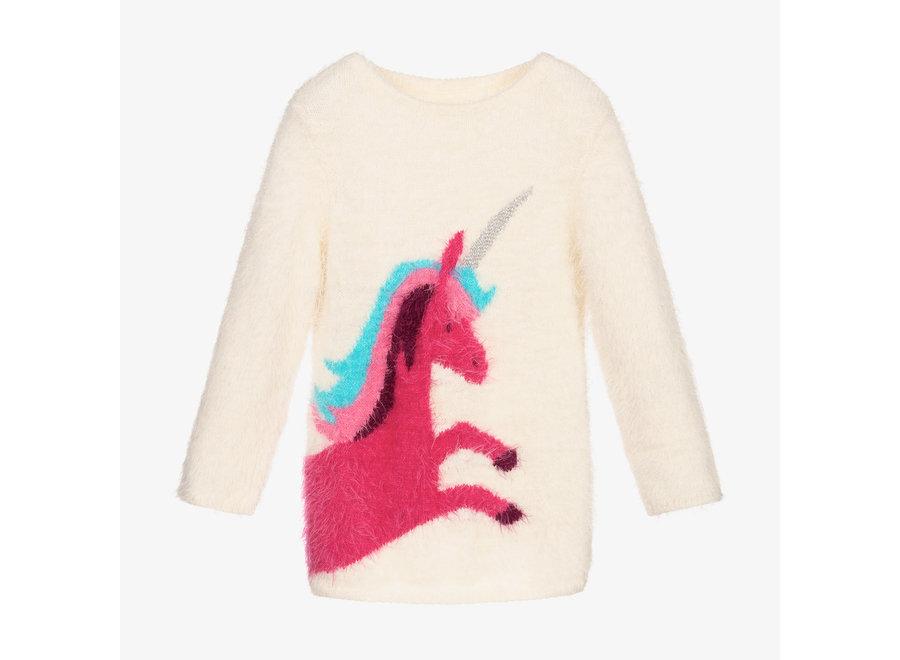 Unicorn fuzzy graphic sweater