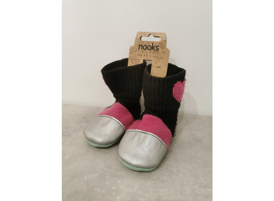Nooks Wool Booties size 5.5 (12-18m)
