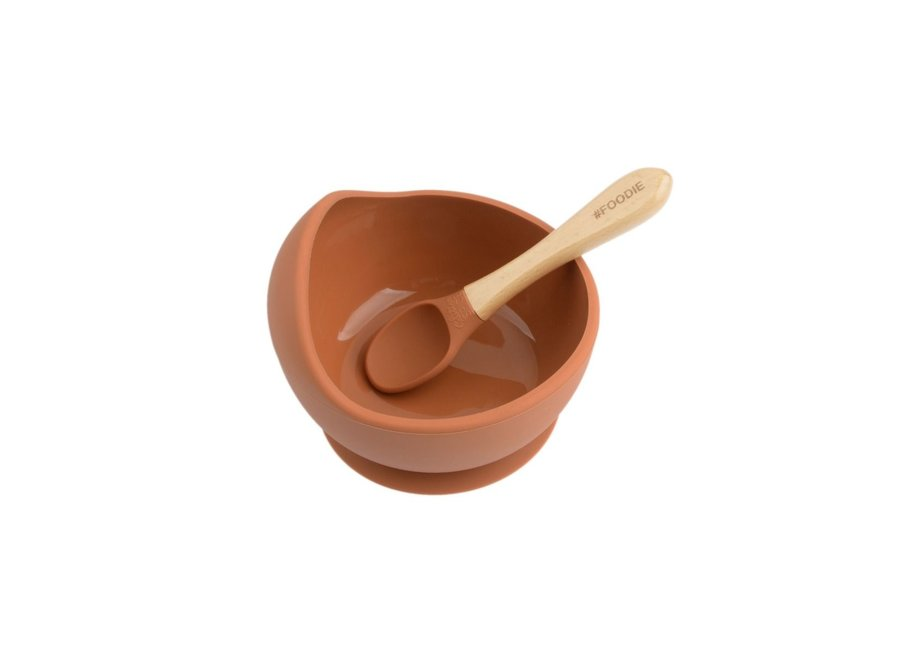 Silicone suction bowl + spoon