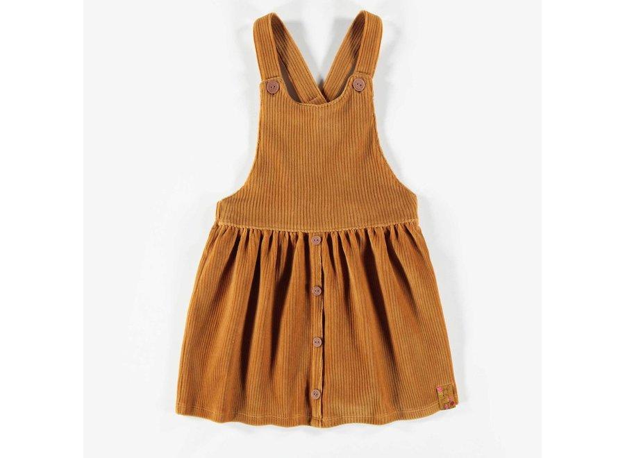 Corduroy dungaree skirt