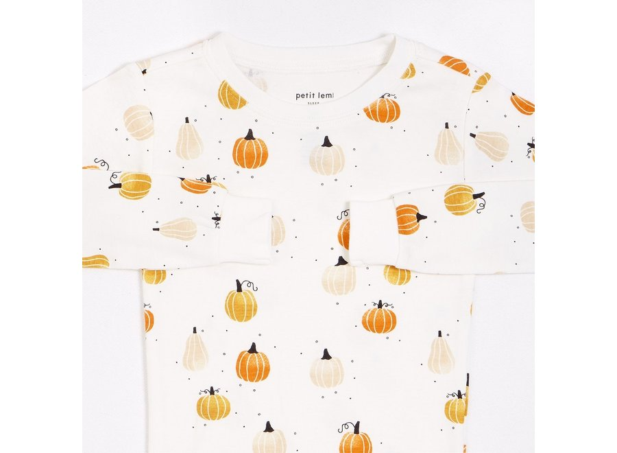 Off white pumpkin Pajama set