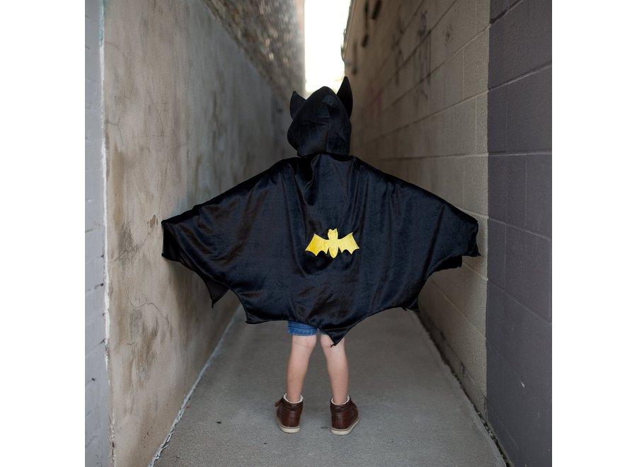 Black hooded bat cape