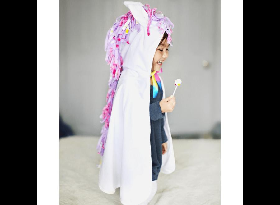 Toddler unicorn cape white