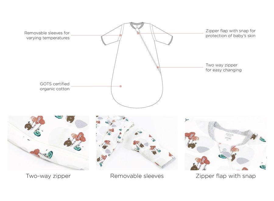 3.5 Tog Organic Cotton Long Sleeve Sleep Bag
