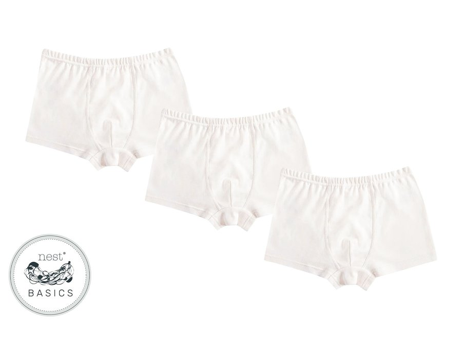 Organic Cotton Ribbed Boys Boxer Briefs (3 pack)