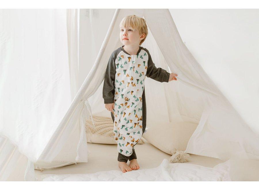 2.5 Tog Raglan Bamboo Long Sleeve Sleep Suit