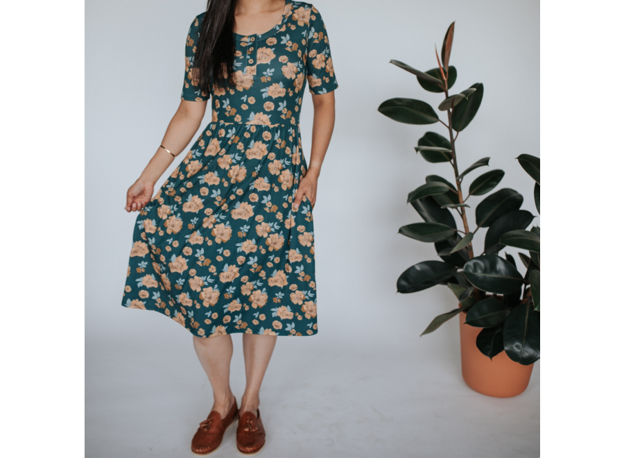 Women's Daphne Dress - Secret garden