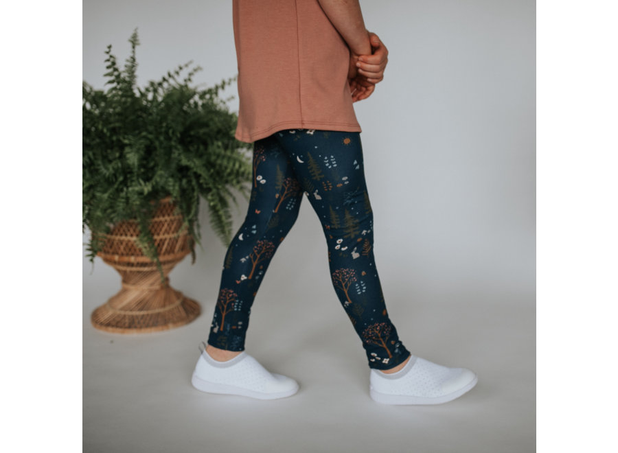 Youth leggings - Enchanted forest