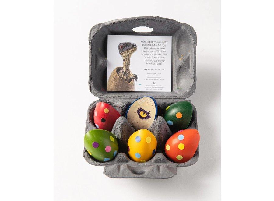 Dinosaur eggs beeswax crayons