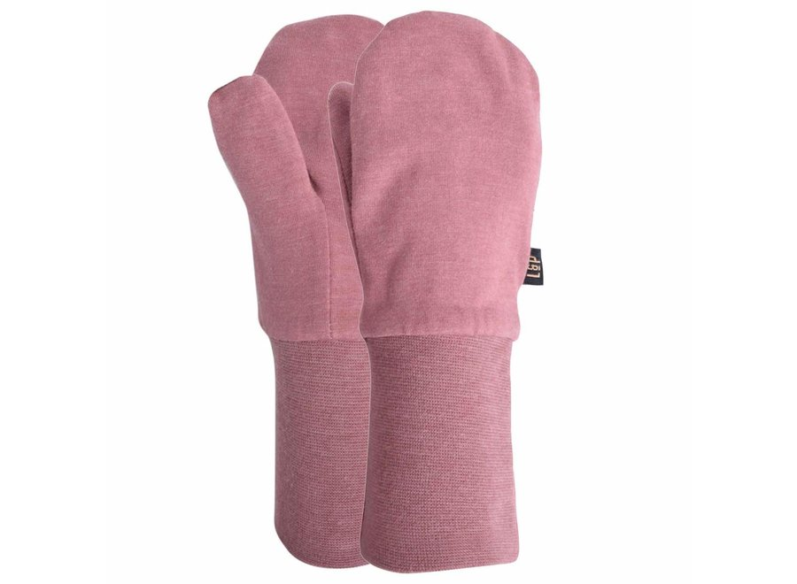 Cotton mitts lined in sherpa