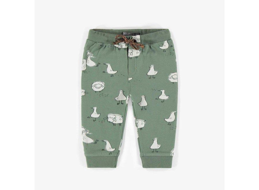 Patterned jogging pants