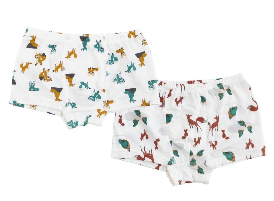 Bamboo Boys Boxer Briefs Underwear (2 Pack)