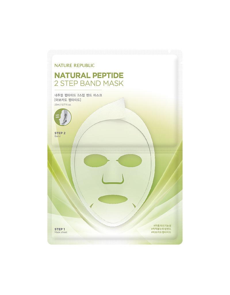 Natural Peptide 2 Step Band Mask Avocado