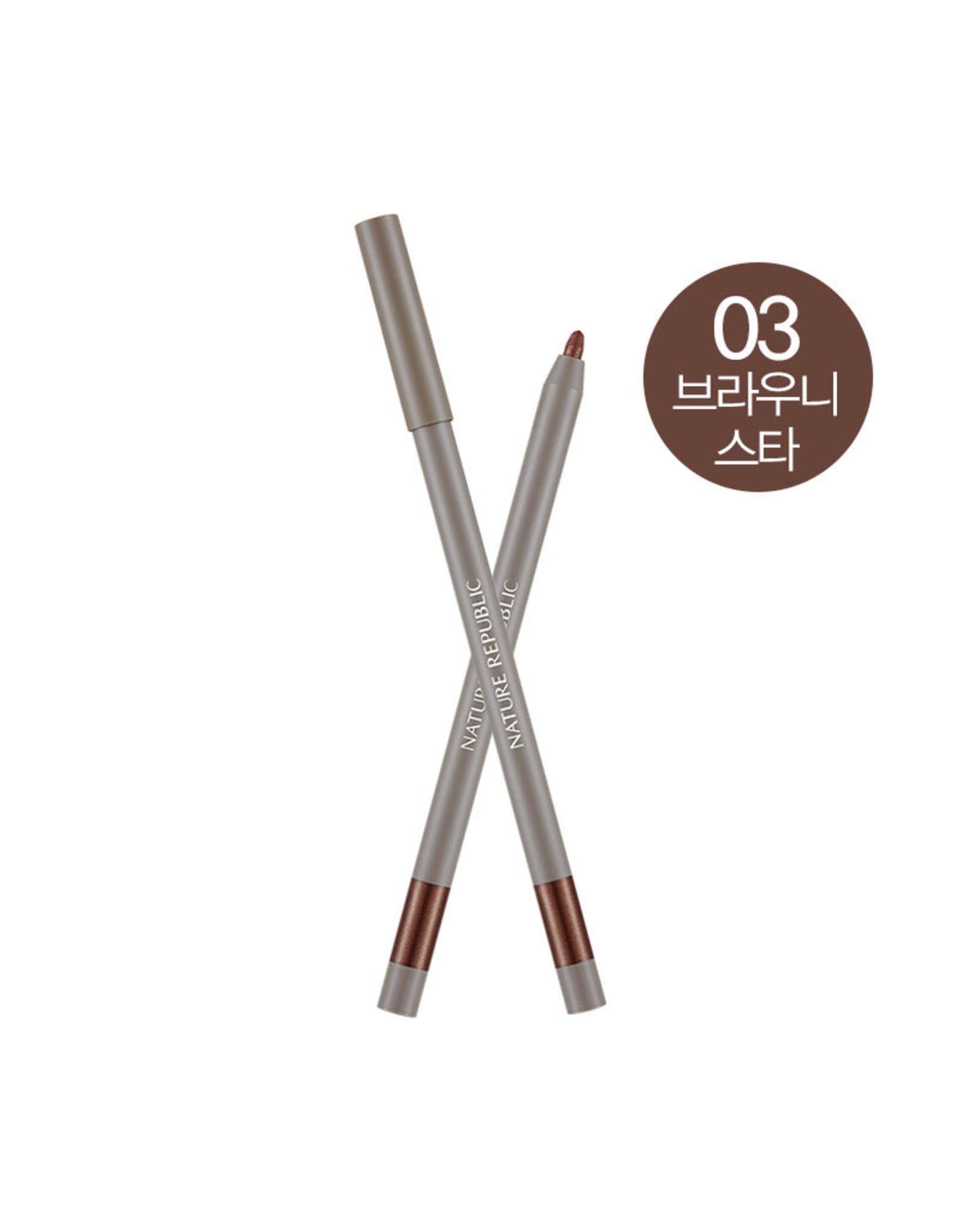 Provence Creamy Gel Eyeliner 03 Brownie Star