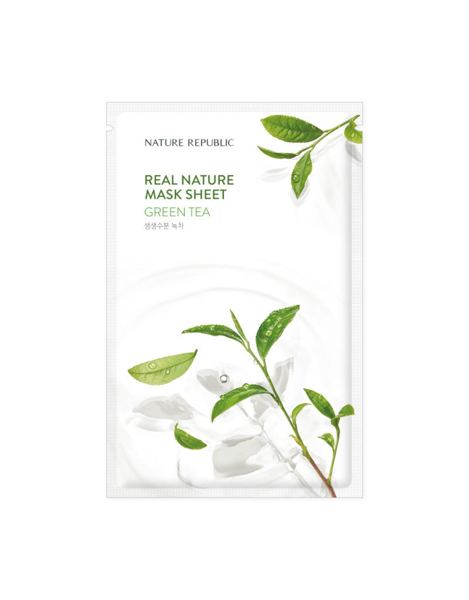 Real Nature Green Tea Mask Sheet (Orig $1.90)