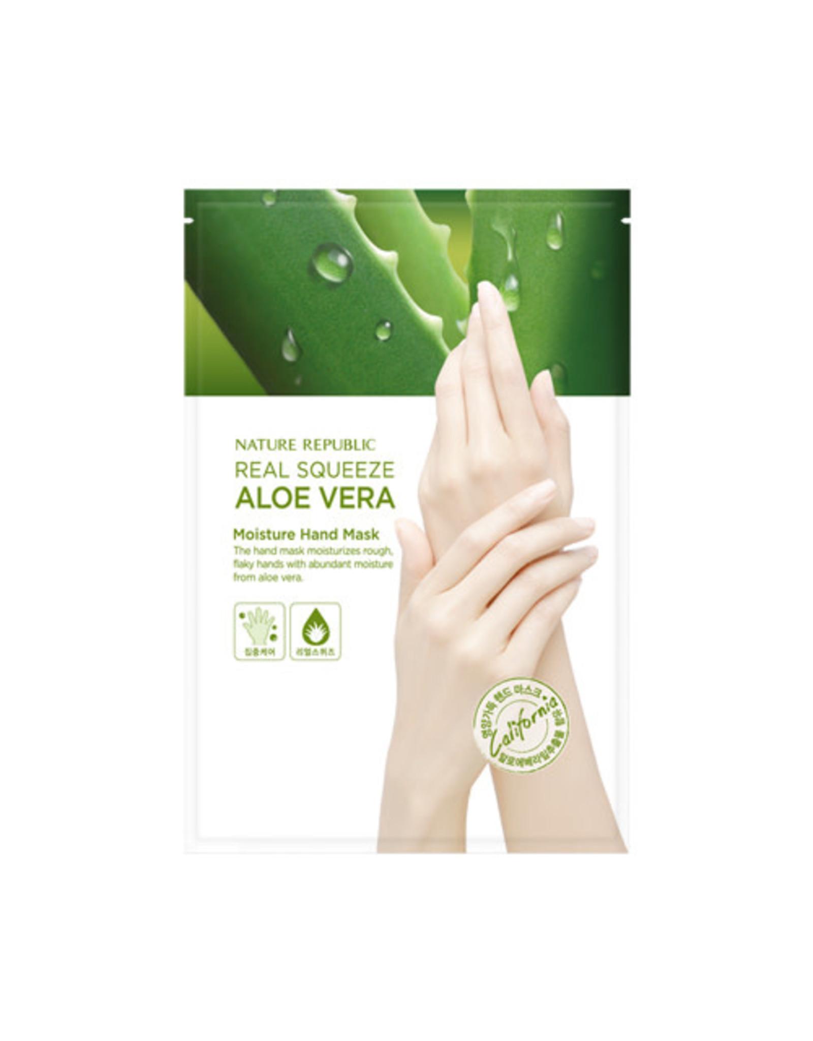 Real Squeeze Aloe Vera Moisture Hand Mask
