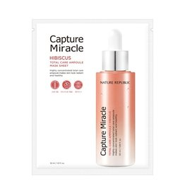 Capture Miracle Hibiscus Total Care Ampoule Mask Sheet 10P
