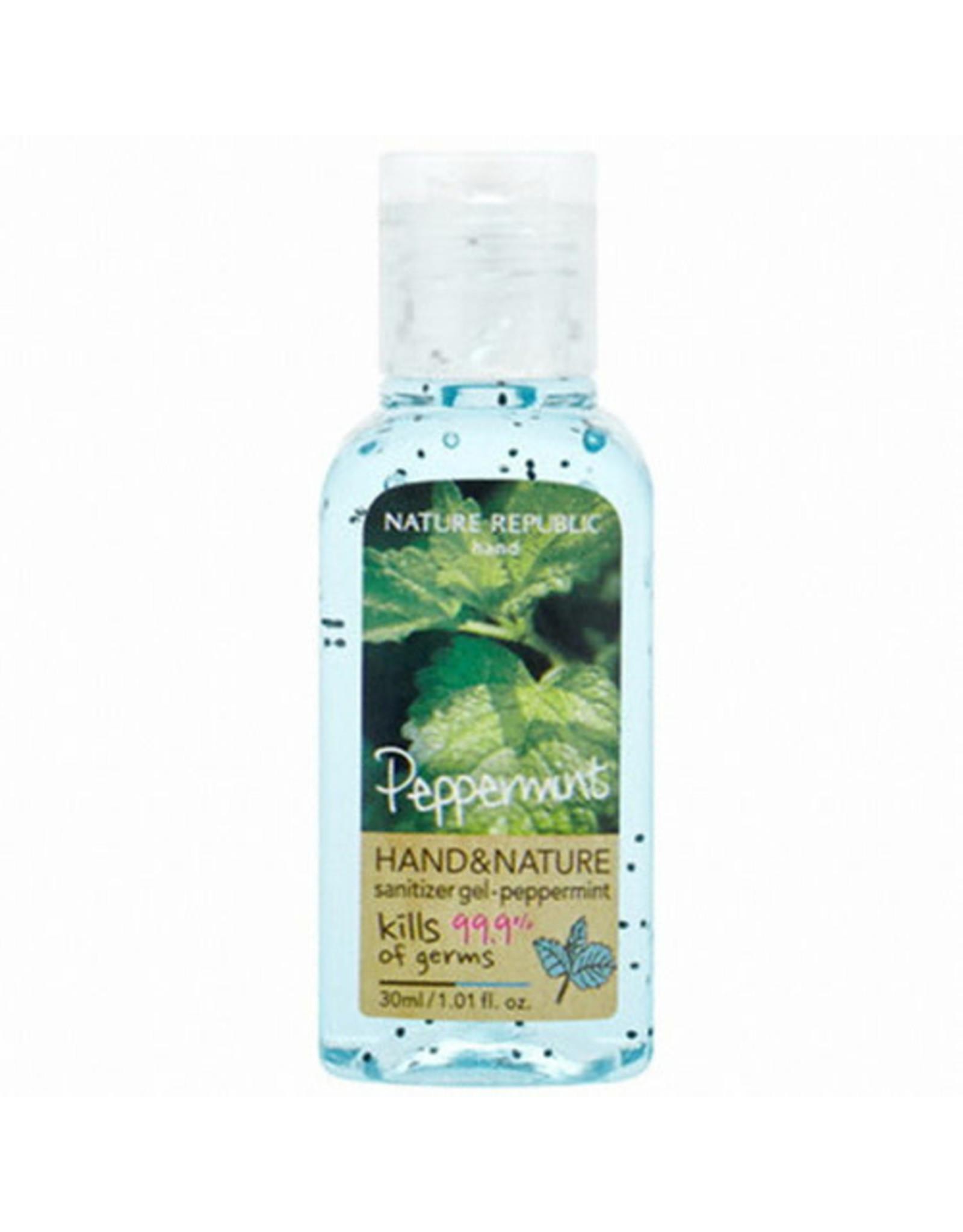 Hand & Nature Sanitizer Gel-Peppermint