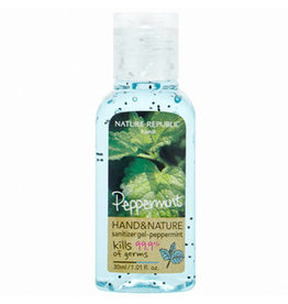 Hand & Nature Sanitizer Gel-Peppermint
