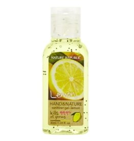 Hand & Nature Sanitizer Gel-Lemon